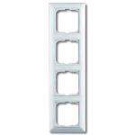 BASIC 55 Рамка 4 поста с декоративной вставкой белая (2514-94-507)