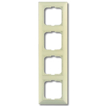 BASIC 55 Рамка 4 поста с декоративной вставкой бежевая (2514-92-507)