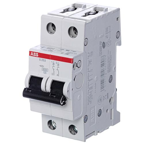 Выключатель автоматический 2п (двухполюсный) 63А С 6кА (S202 C63)