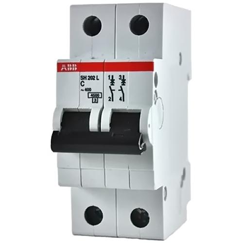 Выключатель автоматический 2п (двухполюсный) 50А С 4.5кА (SH202L C50)
