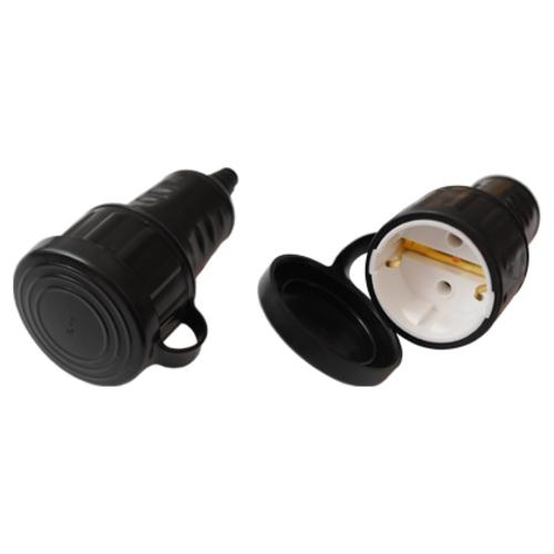 Розетка переносная брызгозащищенная с заземлением каучук (Р16-361) Bylectrica