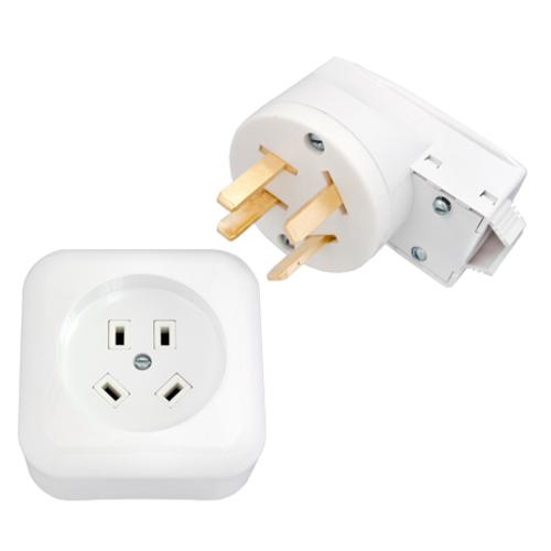 Разъем для электроплит наружный 4-контактный 400В: Розетка + Вилка (РА32-005/В32-003) Bylectrica