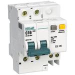 Выключатель автоматический дифференциального тока (АВДТ) 2п 16А 30мА тип AC С 4.5кА ДИФ-101 (15003DEK)