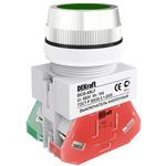 Выключатель кнопочный ВK-30 ABLF диам. 30мм зеленый 220В (25043DEK)