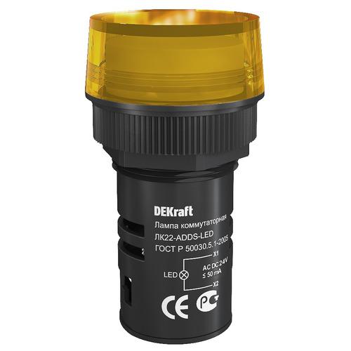 Лампа ADDS d22мм жёлтая LED 22 24В AC/DC