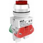 Выключатель кнопочный ВK-22 ABLFP диам. 22мм зеленый LED 24В AC/DC (25069DEK)