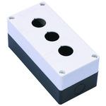 Корпус кнопочного поста 3 отверстия КП-101 белый