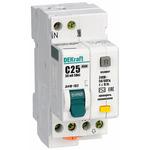 Выключатель автоматический дифференциального тока (АВДТ) 1п+N 10А 30мА тип AC С 4.5кА ДИФ-102