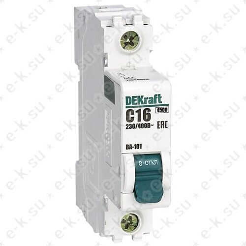 Выключатель автоматический 1п (однополюсный) 16А В 4.5кА ВА-101