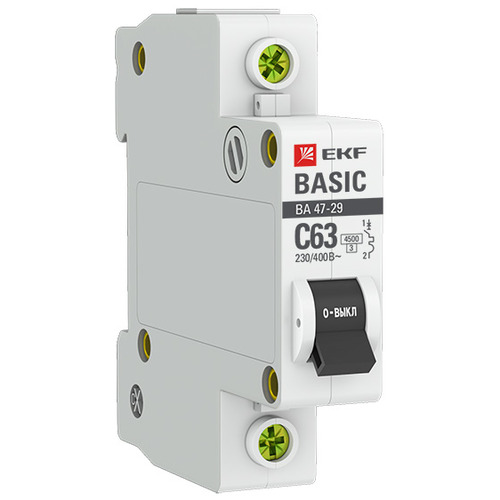 Выключатель автоматический 1п (однополюсный) 10А C 4,5кА ВА 47-29 Basic