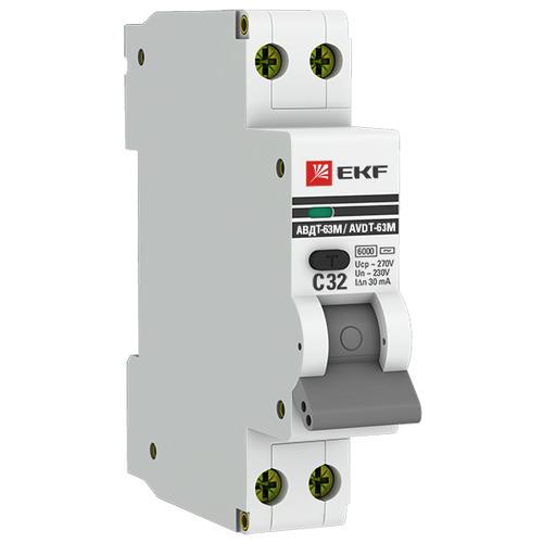 Выключатель автоматический дифференциальный АВДТ-63М 2п 25А 30мА С 6кА AС 1мод. PROxima