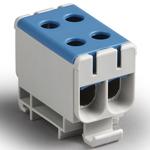 Блок клеммный распределительный синий Al 6-50мм.кв Cu 2.5-50мм.кв 4 подключения