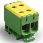 Блок клеммный распределительный желто-зеленый Al 6-50мм.кв Cu 2.5-50мм.кв 4 подключения