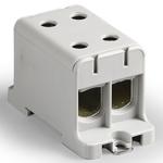Блок клеммный распределительный серый Al/Cu 16-95мм.кв 4 подключения
