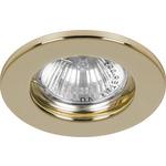 Светильник встраиваемый Feron DL10 потолочный MR16 G5.3 золотистый