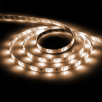Лента светодиодная LEDх60/м 5м 14.4w/m 12в IP65 тепло-белый/на белом основании LS607
