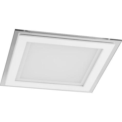 Светильник светодиодный ДВО-6w 4000K 480Лм квадратный со стеклом белый AL2111