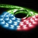Лента светодиодная LEDх30/м 5м 7.2w/m 12В IP65 красный/зеленая/синяя LS607 RGB