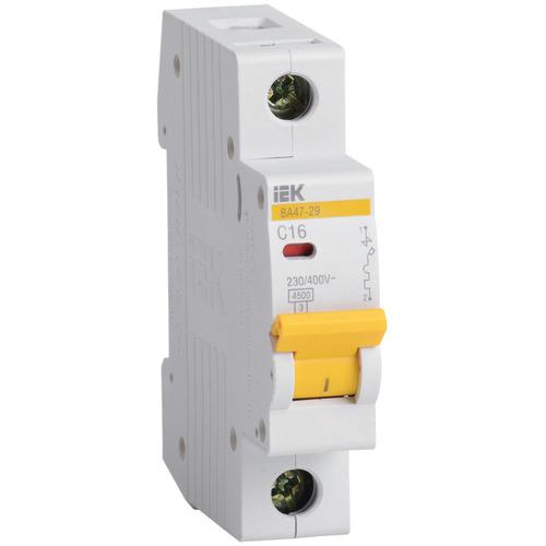Выключатель автоматический 1п (однополюсный) 16А C 4,5кА ВА47-29 (MVA20-1-016-C) IEK/ИЭК