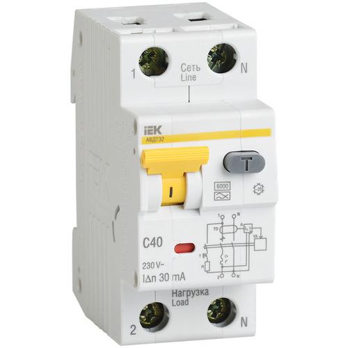 Выключатель автоматический дифференциальный АВДТ32 1п+N 10А 30мА C