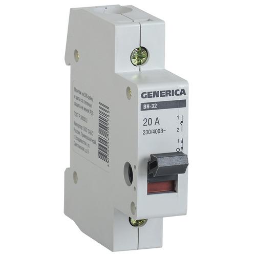 Выключатель нагрузки (мини-рубильник) 1п ВН-32 20А GENERICA (MNV15-1-020)