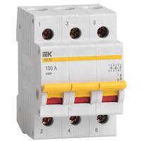 Выключатель нагрузки (мини-рубильник) 3п ВН-32 100А IEK (MNV10-3-100)