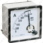 Амперметр Э47 100/5А 72х72 AC включение через трансформатор класс точности 1.5