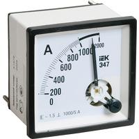 Амперметр Э47 300/5А 72х72 AC включение через трансформатор (класс точности 1.5) (IPA10-6-0300-E)