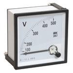 Вольтметр 500В 72х72 AC непосредственного включения Э47 (IPV10-6-0500-E)