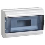 Корпус пластиковый навесной КМПн-12 белый, дверца прозрачная, IP55