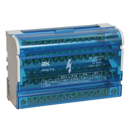 Шина на DIN-рейку в корпусе (кросс-модуль) 3L+PEN 4х15