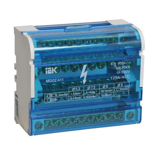 Шина на DIN-рейку в корпусе (кросс-модуль) 3L+PEN 4х11