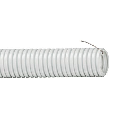 Труба гофрированная ПВХ 16мм с протяжкой серая (10м)