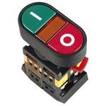 Кнопка APBB-22N I-O с подсветкой неон 1з+1р 240В (BBD10-APBB-K51)