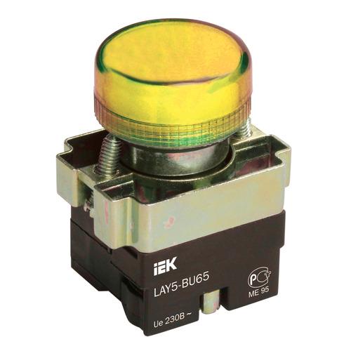 Индикатор LAY5-BU65 желтого цвета 22мм