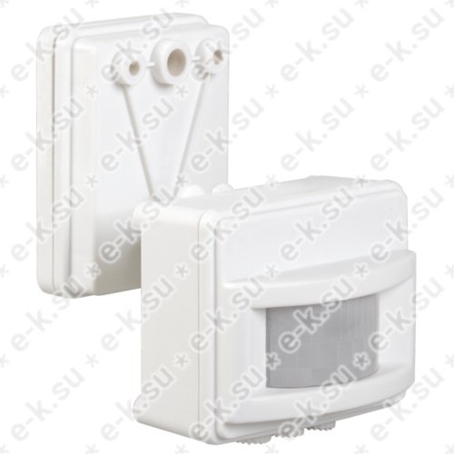 Датчик движения ИК для прожектора 1000/1500w 120 гр. 12м IP44 белый (ДД 017 бел.)