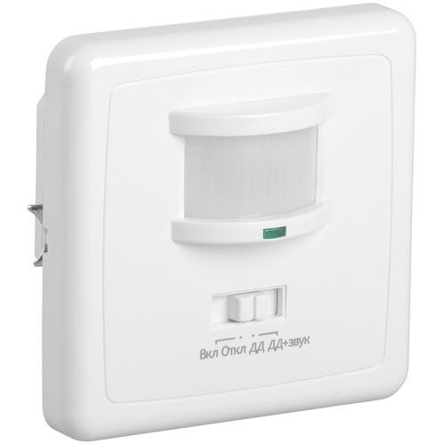 Датчик движения ИК встраиваемый 500w 140 гр. 12м IP20 белый (ДД 035 бел.)