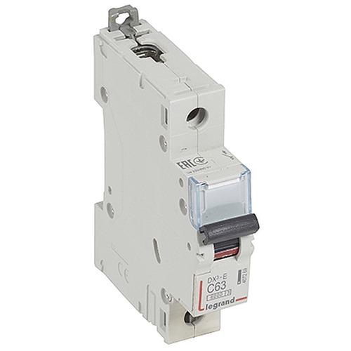 Выключатель автоматический 1п (однополюсный) 63А C 6кА DX3-E