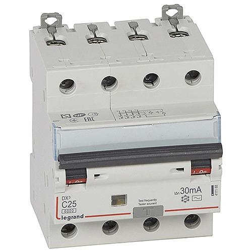 Выключатель автоматический дифференциального тока (АВДТ) DX3 4п 25А 30мА АС
