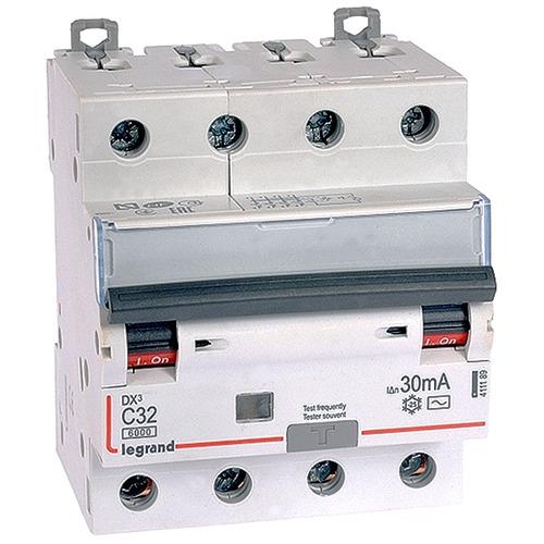 Выключатель автоматический дифференциального тока (АВДТ) DX3 4п 32А 30мА АС