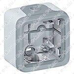 PLEXO Коробка распределительная для наружного монтажа IP55 серая 1 пост (069651)
