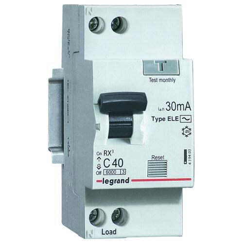 Выключатель автоматический дифференциального тока (АВДТ) RX3 6000 - 6 кА - тип характеристики С - 1П+Н - 230 В~ - 25 А - тип AС - 30 мА - 2 модуля