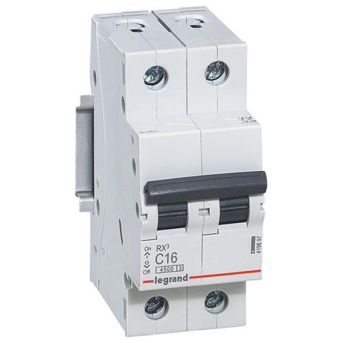 Выключатель автоматический 2п (двухполюсный) 32А C 4,5кА RX3