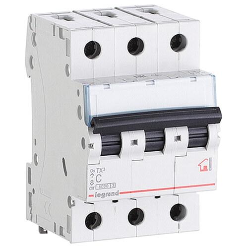 Выключатель автоматический 3п (трехполюсный) 25А C 6кА TX3