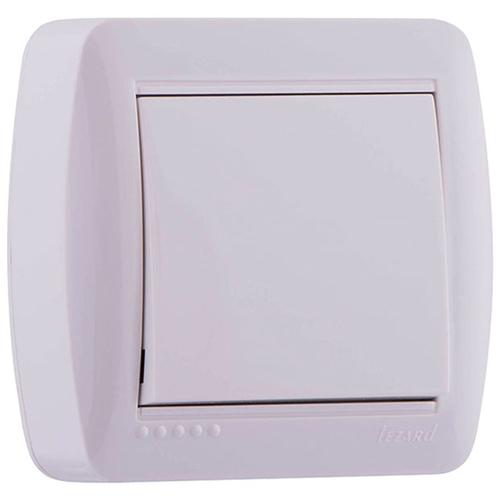 Demet Выключатель одноклавишный наружный белый (711-0200-100)