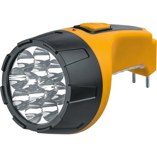 Фонарь светодиодный NPT-CP05-ACCU 15LED аккумуляторный с вилкой для зарядки пластик (94953)