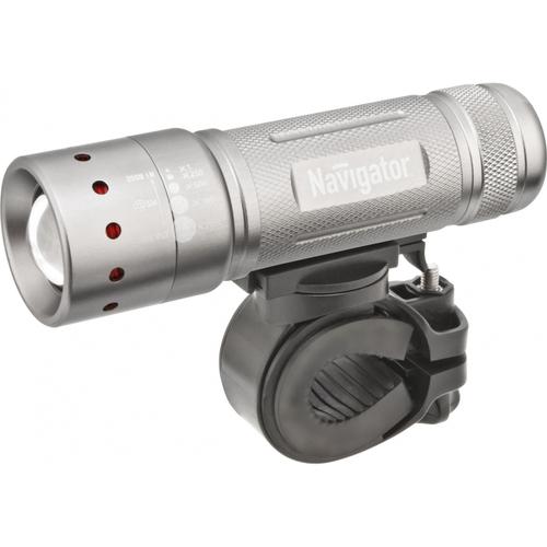 Фонарь светодиодный NPT-B01-3AAA 1LED 5Вт велосипедный металл+пластик (94964)