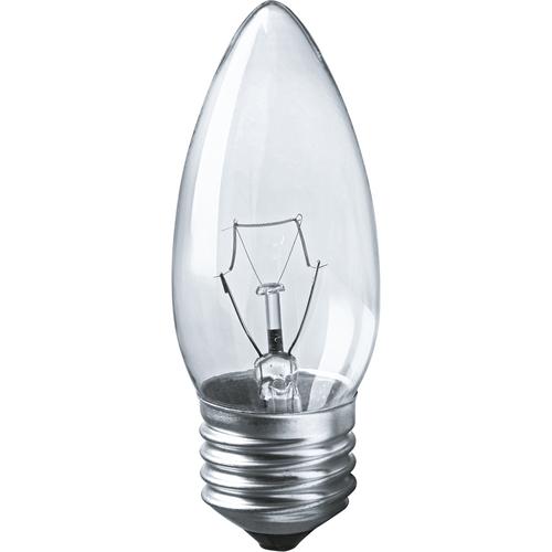 Лампа накаливания декоративная ДС 40вт B35 230в Е27 (свеча) (94328 NI-B)