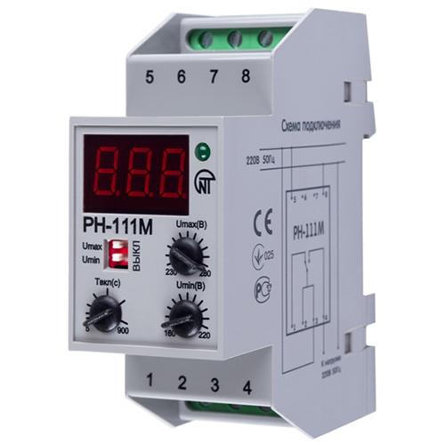 Реле напряжения РН-111М однофазное регулируемое DIN 2 модуля S