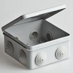 Коробка распределительная 100х100х50мм откидная крышка 8 вводов IP54 Тусо (67045) Рувинил